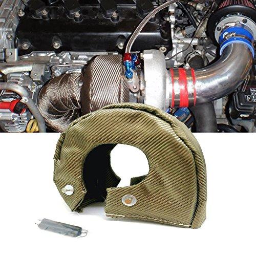 Housse de protection pour turbocompresseur, isolation thermique, en fibre de titane, fermeture à ressorts, barrière de chauffage (A:Fit pour T3)