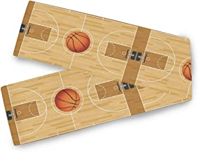 AUUXVA KUWT Sport Basketball Court Table Runner 13×90 inch, Rectangle Table Cloth..