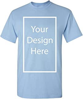 Add Your Own and Text Design Custom Personalized Adult T-Shirt Tee
