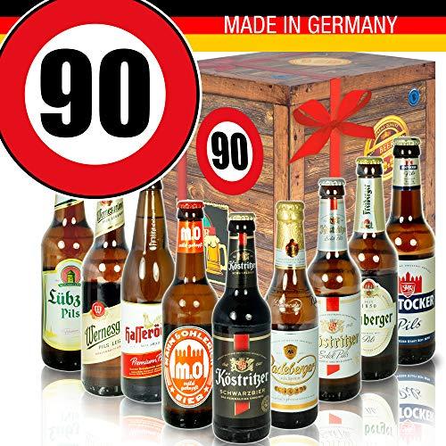 DDR Bierbox - Bier Set - Zahl 90 - Geburtstagsgeschenke Papa