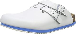 Birkenstock Kay Professional Clog Backstrap Leather White Supergrip Unisex