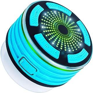 Eastdall wireless speaker,Mini Portable Outdoor BT Wireless Speaker Built-in Mic IPX7 Waterproof Speakers Heavy Bass Music Players Sound Box with FM Radio & LED Mood Light