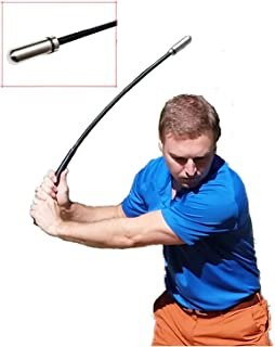 Indoor Golf Swing Training Aid, Compact Flexible Shaft, Weighted Club Head, Golf Gift
