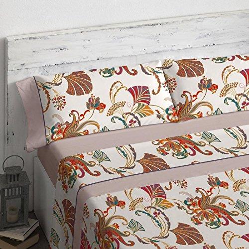 Burrito Blanco - Juego de sábanas 19 Beige de 150x190/200 cm