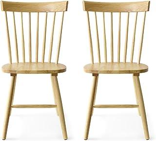 エア・リゾーム ダイニングチェア 2脚セット おしゃれ 北欧 木製 Windsor Chair〔ウィンザーチェア〕 コムバック型 2脚セット販売 ナチュラル