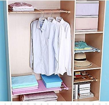 Shefure 1PC Closet Organizer Shelf Bedroom Furniture Wall Mounted Cabinet Holder Kitchen Wardrobe Rack Save Space Storage Cab