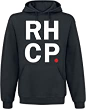 Red Hot Chili Peppers Stacked Asterisk Hombre Sudadera con Capucha Negro, Regular