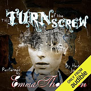 The Turn of the Screw                   By:                                                                                                                                 Henry James                               Narrated by:                                                                                                                                 Emma Thompson,                                                                                        Richard Armitage - introduction                      Length: 4 hrs and 40 mins     143 ratings     Overall 4.1