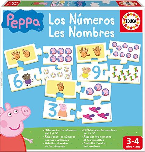 Educa - Aprendo los Números Peppa Pig Animales Puzzle Educativo, Multicolor (16224)