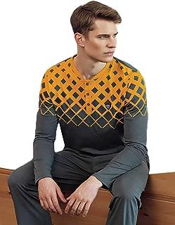 Şahinler Baskılı Düğmeli Erkek Pijama Takımı Sarı MEP24514-2