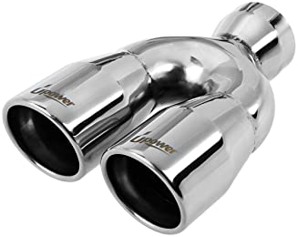 """3/"""" Dual Tip T-304 Stainless Steel 2.5/"""" Inlet Weld-on Muffler Exhaust For PONTIAC"""