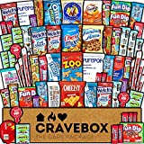 CraveBox Care Package (60 Count) Snacks Food Cookies Granola Bar Chips Candy Ultimate Variety Gift...