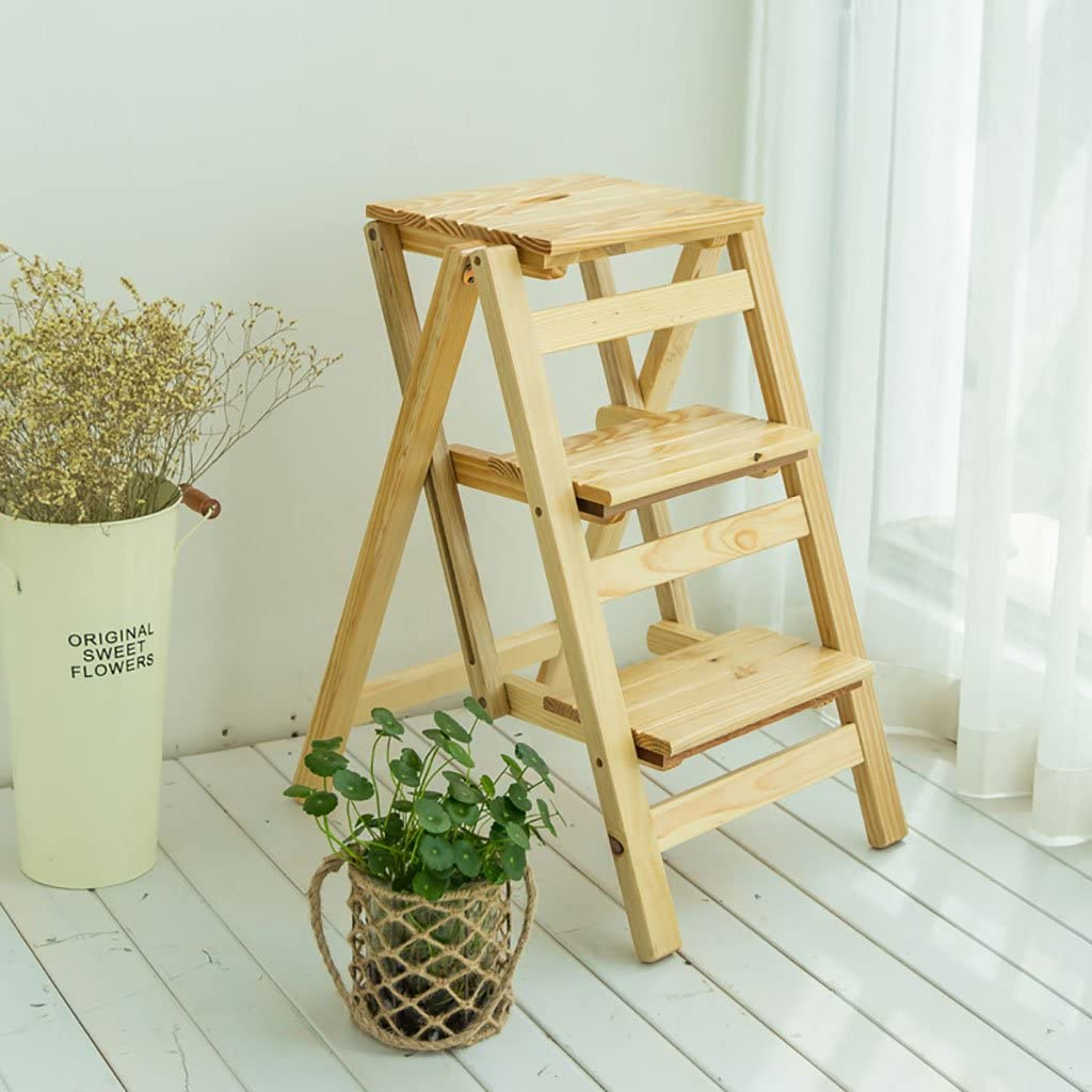 Step Stool Solid Wood Household She Flower Ladder Cheap mail order specialty store Folding Rare