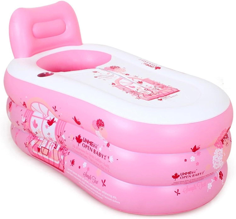 Bathtubs Soaking Baths Inflatable Bath Tub Adult Tub Stylish Home Bath Comfortable Folding Bath Tub Pink Inflatable Relieve Fatigue