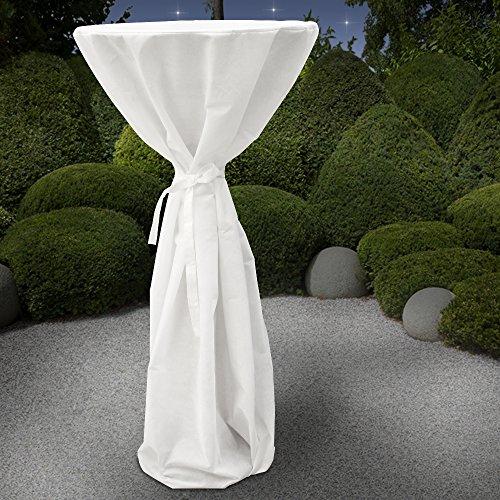 Tafelkleden voor bistrotafels | Kleur: wit, H/Ø 150/70 cm, scheurvast en spatwaterdicht materiaal | bistrotafel, feestje, catering, clubparty, verjaardag
