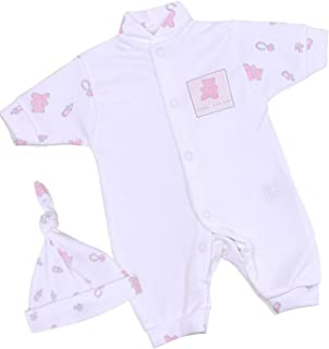 Babyprem Baby Frühchen Kleidung Strampler Overall & Hut Set Mädchen 32-50cm