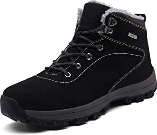 UBFEN Bottes de Neige Homme Femme Chaussures d'hiver Chaude Doublure Chaussures Montantes de Randonnée