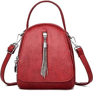SssabInnasnsdjb حقائب ظهر جلدية للنساء حقائب ظهر عالية الجودة للنساء حقيبة يومية كاجوال للنساء حقيبة سفر حقيبة ظهر (اللون:...