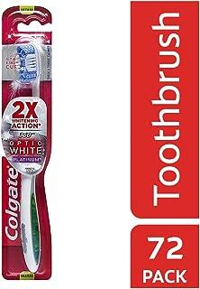 Colgate 360 Optic White Platinum Whitening Toothbrush, Medium (72 Pack)