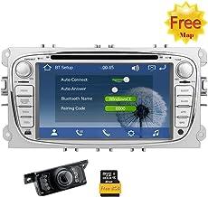 Eincar 2 DIN Wince Sistema del Coche DVD GPS para Ford Mondeo Focus S-MAX 2007 2008 2009 2011 2013 Stereo Radio Dash GPS Receptor EST¨¦reo Digital de la Pantalla t¨¢ctil de 7 Pulgadas de navegaci¨®n