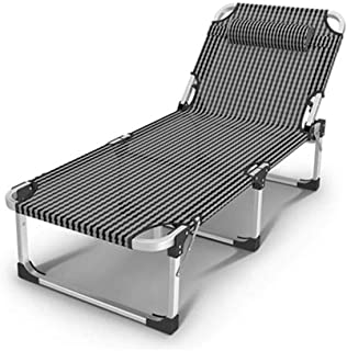 Image of Outdoor Foldable Single Bed, Sturdy and Stable Aluminum Alloy Camp Bed Portable Folding Chair,Suitable for Office Lunch Break, Camping Trip Hunting and Backpacking