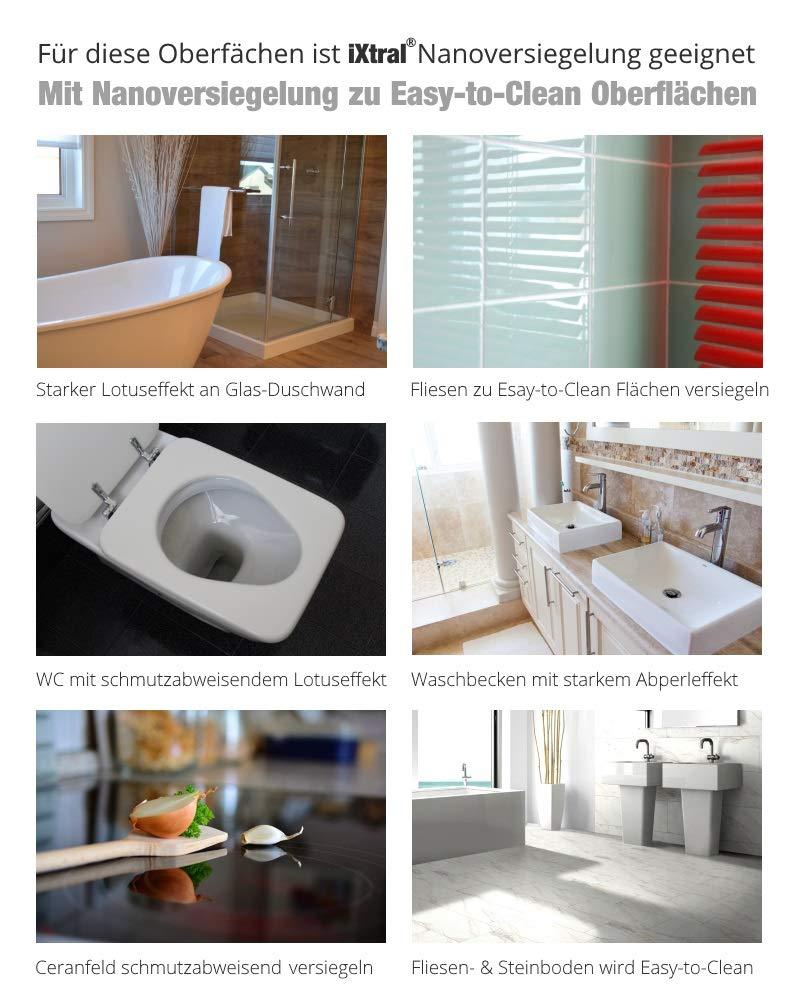 iXtral Easy Glass - Sellador de vidrio de alta tecnología para superficies limpias de vidrio y azulejos, porcelana contra la cal y la suciedad con efecto perlado: Amazon.es: Bricolaje y herramientas