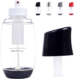 Ideal Olive Oil Sprayer Mister - Premium Air Pressure Only Clog-Free Cooking Oil Mist for Salads, Baking, Grilling, Air Fryers by The Fine Life - Black