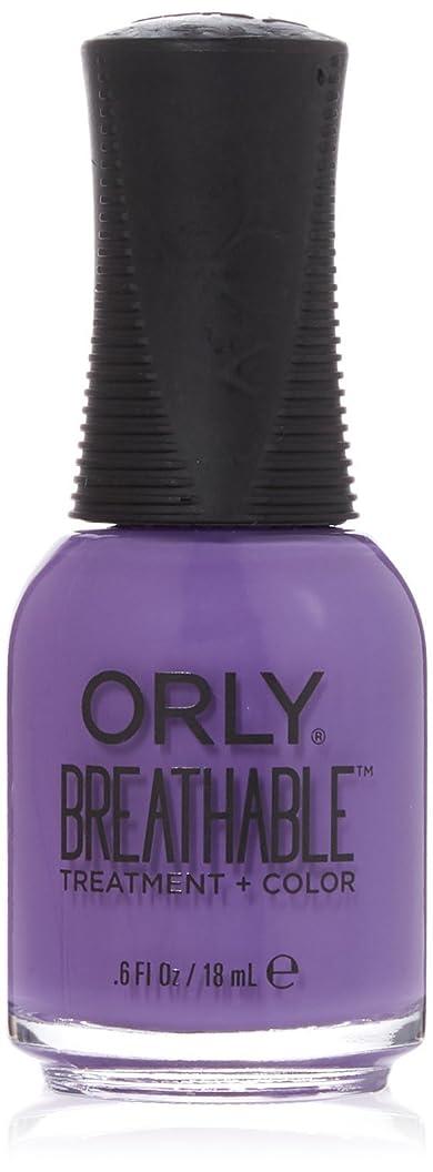 受動的ファンブル出演者Orly Breathable Treatment + Color Nail Lacquer - Feeling Free - 0.6oz/18ml