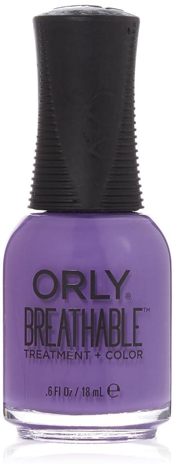 粘土表面的な辞任するOrly Breathable Treatment + Color Nail Lacquer - Feeling Free - 0.6oz/18ml