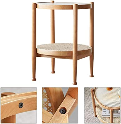 Household Kang Table Small Coffee Table Japanese Style Solid Wood Tea Table Bedroom Balcony Floor Table Tatami Table Zen Bay Window Table Simple (Color : Wood Color, Size : 38 * 38 * 60cm)