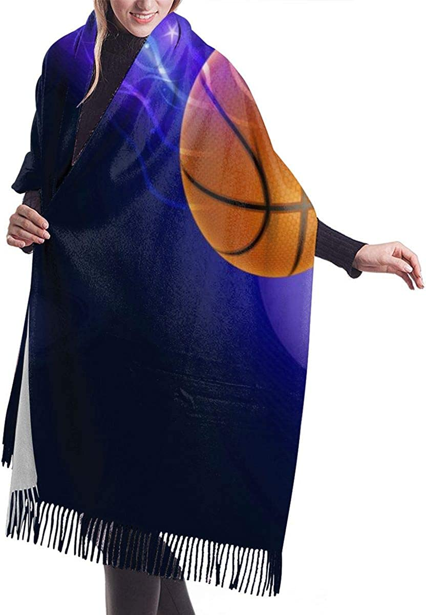 Scarf Cool Basketball With Wings Womens Warm Long Shawl Wraps Large Knit Cashmere Feel Scarves