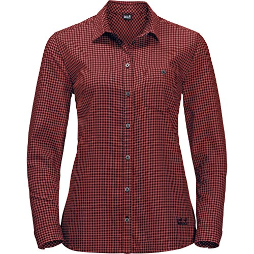 Jack Wolfskin jw-1402701-771-L Camiseta, Mexican Pepper Checks, L para Mujer