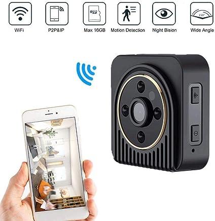 XHZNDZ Telecamera nascosta Mini Spy, Telecamere di sorveglianza wireless per la sicurezza domestica HD 1080P di piccole dimensioni, Telecamera piccola e nascosta con visione notturna e rilevamento del - Trova i prezzi più bassi