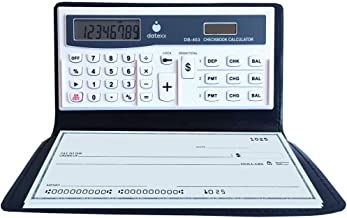 $26 » Datexx 3 Memory Checkbook Calculator - Features Secure Password Protection