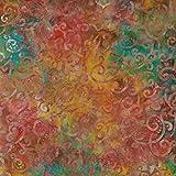 Fabric Freedom Batik-Stoff mit goldfarbenem Wellendesign,