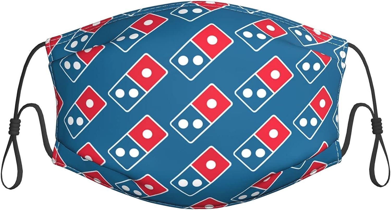 Dominos Pizza Logo Face Mask with Filter Mouth Cover Bandana Seamless Balaclava Small Black