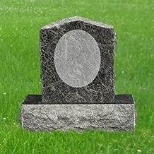 Bahama Blue Granite Upright Monument Gravemarker Headstone Gravestone MN-87
