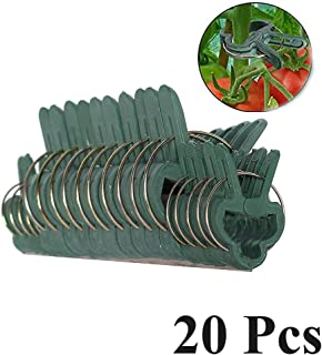 TYLife Industrial Tools 20Pc Gentle Plastic Gardening Clips Plant Flower Lever Loop Gripper Clips for Straightening Plant Stems