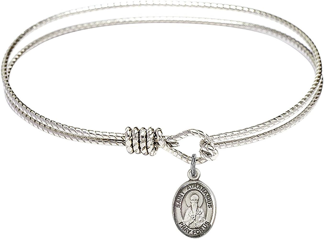 Bonyak Jewelry Oval Overseas parallel import regular item Eye Jacksonville Mall Hook Bangle in Athanasius Bracelet w St.
