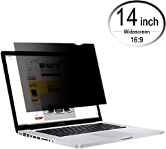 CenterZ 14 inch 16:9 Laptop Screen Privacy Filter, Removable Reusable Antiglare 60° Visible Angle Widescreen Monitor Protector Film for Lenovo, Macbook, Dell, Surface Pro, HP Notebook (Black, 310x174)