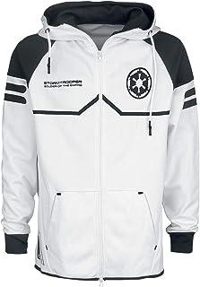 Star Wars Storm Trooper Hombre Capucha con cremallera Blanco, , Regular