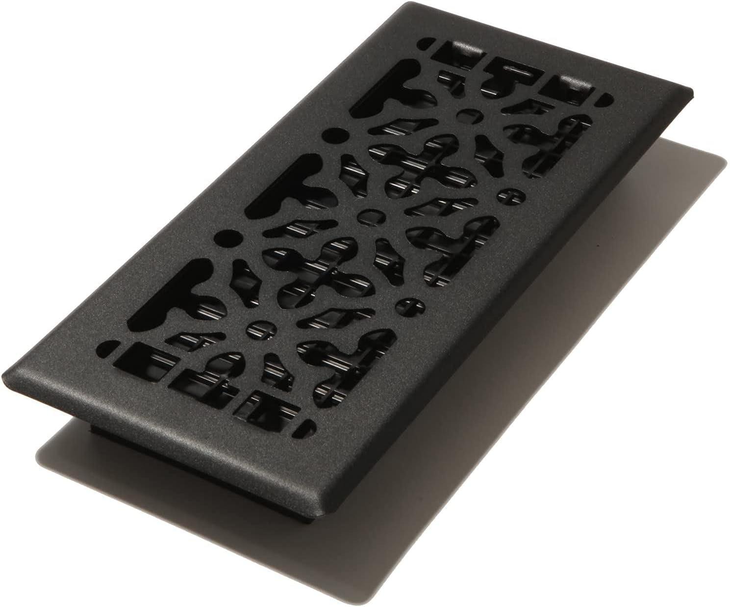 Gothic Black Steel Floor Register 4