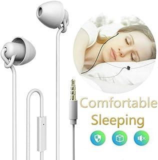 Unitnen Sleep Headphones, Noise Isolating in-Ear Earphones Comfortable Earplugs Sleeping Earbuds w/Microphone Side Sleeper, Snoring, Air Travel, Meditation & Relaxation(White)