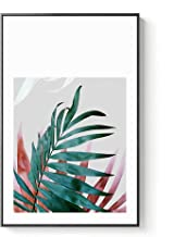 Nordic Colorful Leaf Canvas Painting Poster Print Plant Wall Art Picture for Living Room Bedroom Aisle Dinning Room Modern Decor,70x90cm (No Frame),E