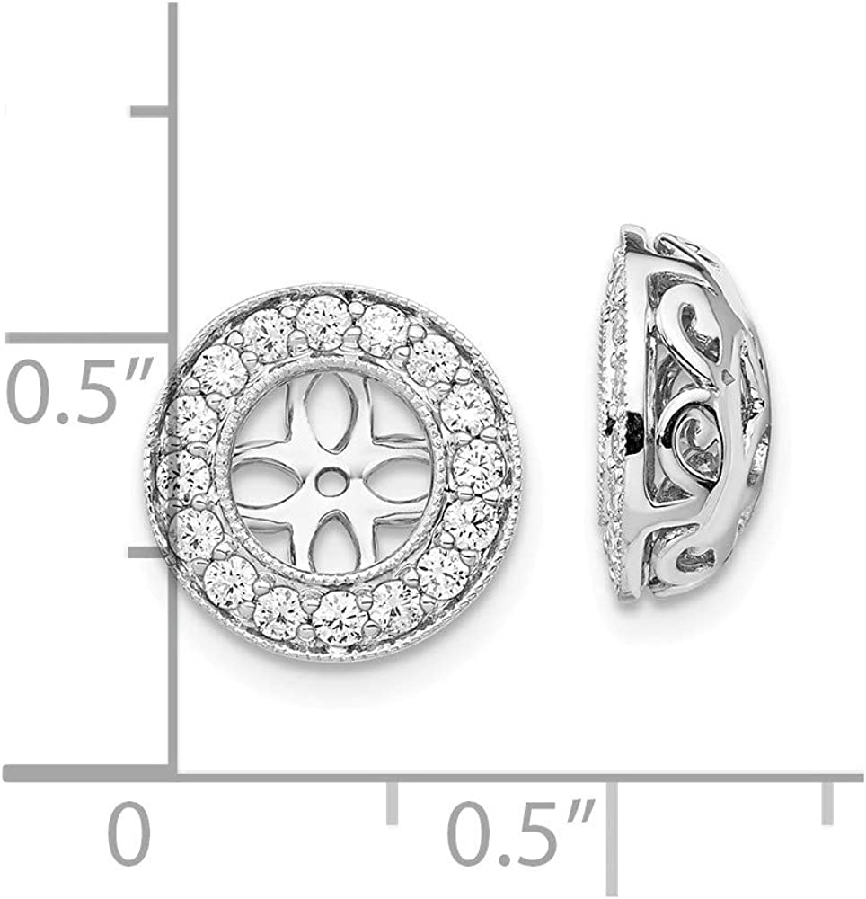 Solid 14k White Gold Lab Grown Diamond Earring Jackets (.48 cttw.)