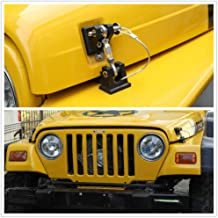 JeCar TJ Hood Latches Stainless Steel Hood Lock Catch Latches Kit for Jeep Wrangler TJ 1997 1998 1999 2000 2001 2002 2003 2004 2005 2006