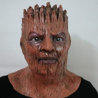 Halloween Mask 2018 Horror Tree Demon Horrible Cosplay Mask Scary Mask Cosplay Mask for Festival Music Party Costume - Brown
