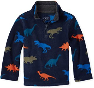 Baby Boys Graphic Microfleece Zip-up Sweater
