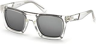 نظارات شمسية باطار مربع بعرض 52 ملم للبالغين من الجنسين من ديزل - لون كريستالي موديل Dl0250