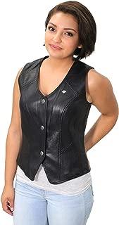 Harley-Davidson Womens Essential B&S Metal Badge Snap Front Black Vest 98093-16VW